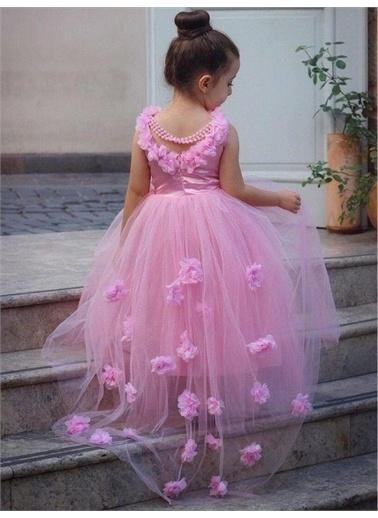 Riccotarz Kız Çocuk Gül Detaylı Abiye Pembe